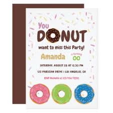 doughnut birthday party invitations u0026 announcements zazzle co uk