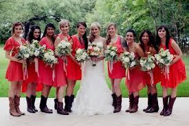 bridesmaid dress ideas pink bridesmaid dresses with cowboy boots naf dresses