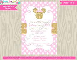 minnie mouse 1st birthday invitation inite princess minnie