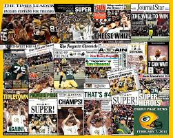 Nfl Curtains Green Bay Packers Nfl Football 2011 Super Bowl Newspaper Collage