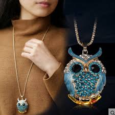 crystal owl pendant necklace images 18k gold vintage crystal cubic zircon diamond owl necklaces jpg