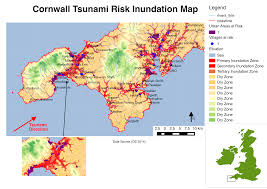 Map Of Cornwall England by Modelling Risk From A Potential Cornish Tsunami The London Nerc