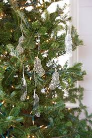 silver lace feather tree ornaments gardeners