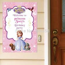 Sofia The First Birthday Decorations Cheap Sofia First Party Decorations Free Shipping Sofia First