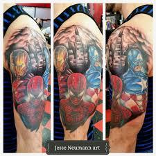 marvel civil war tattoo by jesse neumann tattoos