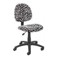 Microfiber Swivel Chair by Armless Posture Back Task Chair In Zebra Print Microfiber