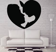 valentine days cool home wall decals for valentine decors black