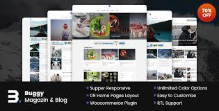 buggy magazine u0026 blog wordpress themes by nanoagency themeforest