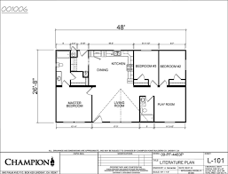 champion manufactured homes floor plans price fighter 4483p 3 bed 2 bath 1280 sqft affordable home for