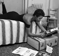 maya angelou reading in her dressing room before a performance at