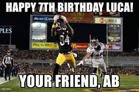 Antonio Brown Meme - happy 7th birthday luca your friend ab antonio brown meme
