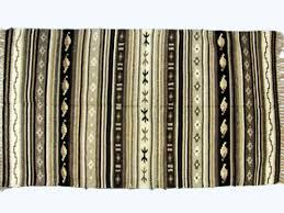 Kilim Rug Runner Black White Rug Striped Carpet Kilim Rug Hand Knotted Discovered
