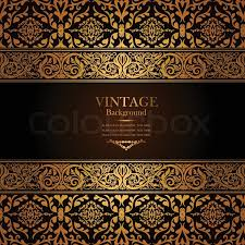 vintage background antique gold ornament baroque frame