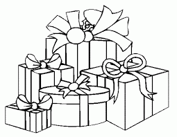 coloring page of christmas tree with presents free printable christmas tree coloring pages some moore