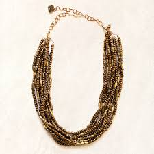 necklace beaded images Avindy layered bronze beaded necklace womens apparel at vickerey jpg