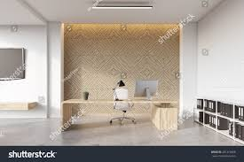 front view directors office computer on stock illustration