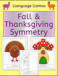 symmetry fall and thanksgiving fun geometry activity by