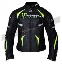 motogp jacket monster energy scream leather jacket