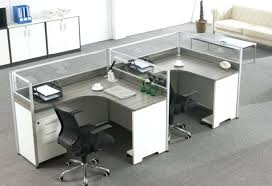 office desk for two persons with additional elevated wood panel