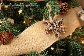 rustic christmas rustic christmas tree ornament megan handmade