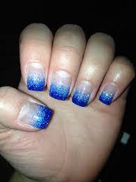 dark and light blue glitter gel nails nails pinterest