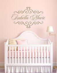 personalized baby nursery name vinyl wall decal elegant shabby