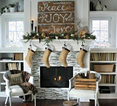 rustic christmas mantel interior decor