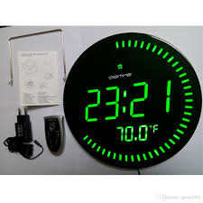 large led digital oversized circling wall clock shelf clocks