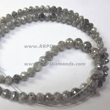 natural beads bracelet images Buy gray faceted carat size diamond beads bracelet at wholesale price jpg