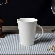 new bone china trumpet shape coffee mug ceramic super white coffee