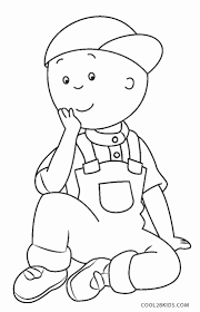 free cartoon caillou coloring pages kids colorpages7