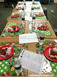 mud pie studio elf themed christmas party for the classroom