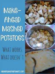 make ahead mashed potatoes what works