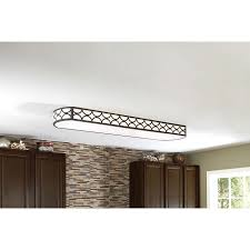 Fluorescent Ceiling Light Fixtures Kitchen Shop Allen Roth Light Bronze Ceiling Fluorescent Light Energy