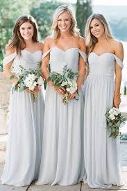 grey bridesmaid dresses kennedy in chiffon bridesmaid dresses revelry