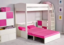 High Sleeper With Sofa And Desk Stompa Unos High Sleeper Frame With Sofa Bed Only Boys