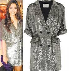 sonam kapoor shines in sequined shirt dress pinkvilla
