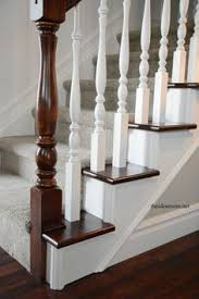 Best Paint For Stair Banisters Diy How To Stain And Paint An Oak Banister Spindles And Newel