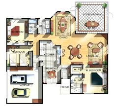 Floor Plan Software 3d 3d Floor Plan For House Jpg Planos Casa Pint 2 Story Plans House3d