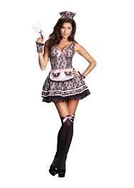 french halloween costumes pardon my french maid lace dress costume walmart com