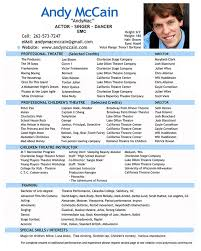 how to make an acting resume with no experience professional actor resume professional actor resume we provide