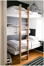built in industrial clean lines floating bunk beds reminds me