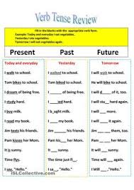 past present and future tense verbs worksheets pinterest