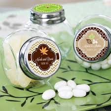 wedding favor jars mini glass favor jars w personalized fall labels