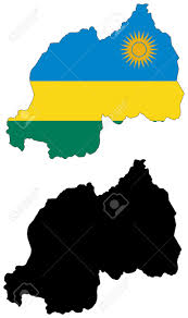 Map Of Rwanda Vector Pattern Map And Flag Of Rwanda Royalty Free Cliparts