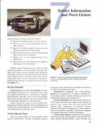 chapter 7 service information work orders manual transmission