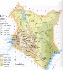 geographical map of kenya kenya general data