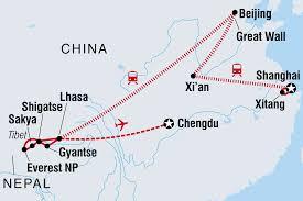 Chengdu China Map by China Tours U0026 Travel Intrepid Travel Au