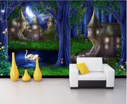 online get cheap wall painting decorative painting wallpaper mural custom photo 3d wallpaper mural forest castle fairy tale picture decoration painting 3d wall murals wallpaper