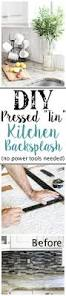 diy pressed tin kitchen backsplash bless u0027er house